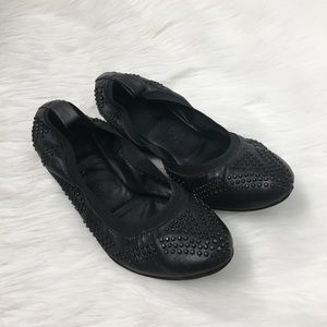 See By Chloé Black Studded Ballet Flats Shoes